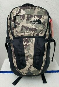 New The North Face Recon Burnt Olive Green Camo/Black Nylon 30L Laptop Backpack