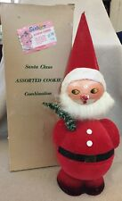 """Vintage 14"""" Christmas Santa Claus Bobble Head Sunbeam Cookie Container W Germany"""