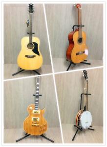 Haze GS008 Folderable Gooseneck Guitar Stand for Guitar Bass Banjo And More