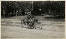 PHOTO ANCIENNE - VINTAGE SNAPSHOT - MOTO MOTOCYCLETTE POLICE MILITAIRE-MOTORBIKE