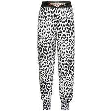 Girls Black & White Animal Print Harem Pants Trousers Size / Age 7 to 8