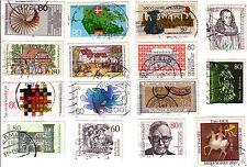 Bund BRD 15  Briefmarken von 1983 - 1986  Gestempelt