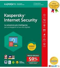 Kaspersky Internet Security 2018 1 Dispositivo PC/1Anno Digital Key-ESD-Download