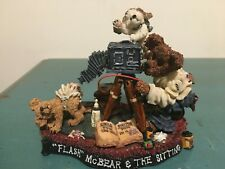 "Boyds Bears Resin Figurine #227721 ""Flash McBear and The Sitting"" Photography"