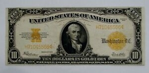 1922 Large Size $10 Gold Certificate Fr. 1173 - Nice,  Avg. Circulated
