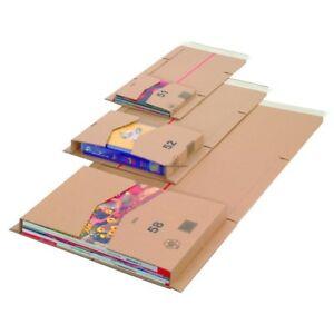 50 Buchverpackungen B5 Verpackung Buchkarton 275 x 185 x 53 mm braun