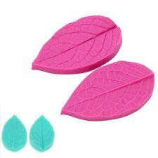 2Pcs/set 3D Leaf Veiner Shape Silicone Mold Cake Mould Fondant Bakeware Decor