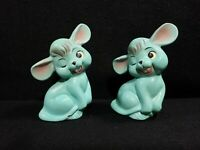 Unique Vintage/Retro Mouse Salt And Pepper Shaker Set-Sea Foam/Blue Green
