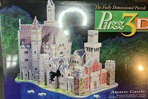 Puzz 3D Alpine Castle 1000 Piece Puzzle Super Challenging  Vtg 1994 New / Sealed