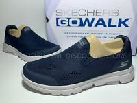 USED SKECHERS Men's Go Walk Air Cooled Ultra Go Cushioning Shoes ~ Size 8