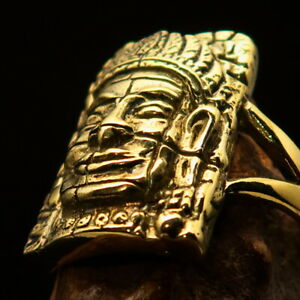 Excellent crafted Brass Men's Buddha Ring ancient Bayon Angkor Wat