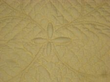 POTTERY BARN COTTON QUILTED EURO SHAM 27 X 27 YELLOW -- 3 AVAILABLE