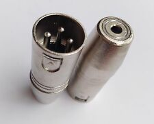 1pcs 3 pin XLR Audio Male Plug Connector to 3.5mm stereo socket adapter