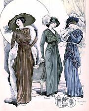 Ladies 1900s clothing Picture print size 10x8 fashion shabby chic