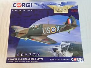 CORGI AA35509 1:32 HAWKER HURRICANE MK.I P2970 US-X LITTLE WILLIE GEOFFREY PAGE