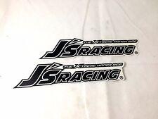 JDM J's Racing sticker decal x2 honda integra civic s2000 sir rsx dc2 eg6 ek9 js