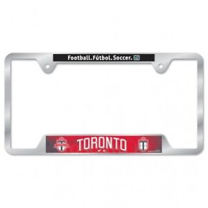 """TORONTO FC METAL LICENSE PLATE FRAME 6""""x12"""" OFFICIALLY LICENSED SHIP FROM CANADA"""