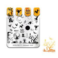 BORN PRETTY Nail Art Stamping Plates Halloween Day Nail Art Stamp Image Stencil
