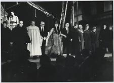 Italia, Dario Fo, Franca Rame, Fiorenzo Capri e Chino Bert  Vintage silver print