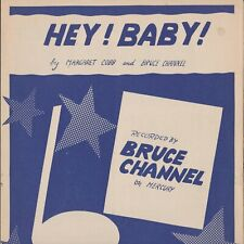 SHEET  MUSIC  //  BRUCE  CHANNEL  --  HEY  !   BABY  !
