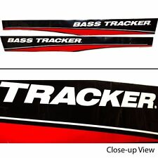Tracker Bass Boat Decal Set 127851 / 127850    77 1/2 x 8 Inch Black/Red/White