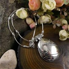 Vintage Elegant Women Jewelry Alloy Pld Pendant Bone Round Statement Necklace