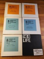 Lot of 6  Reel to Reel Tapes 7 1/2 IPS vintage American Radio Programs