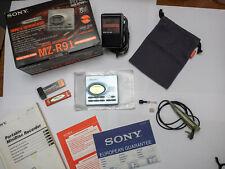 Sony MZ-R91 Portable MiniDisc Recorder and 64 MiniDiscs.