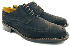 $552 Paraboot Suede Leather Wingtips Dress Shoes France 10 US 11
