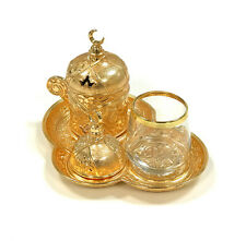 Coffee Set For Traditional Turkish, Arabic, Greek Espresso Serving (GOLD)