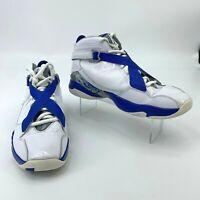 Nike Air Jordan 8 VIII Mens Shoe Size 10.5 White Metallic Silver Royal Blue 2011