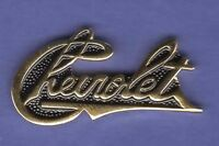 CHEVY SCRIPT HAT PIN LAPEL PIN TIE TAC BADGE #0824 GOLD