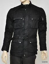 Ralph Lauren Black Label Denim Mariner Waxed Jacket Coat Top Black M Nwt $1195
