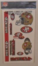 NFL SAN FRANCISCO 49ERS SHEET OF 7 TEMPORARY TATTOOS FAST FREE SHIPPING