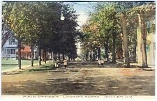 Holley NY Main Street View Children Signed Fisk Publisher Albertype Postcard