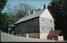 WINSTON SALEM NC Old Salem Single Brothers House Workshop Vtg Town View Postcard