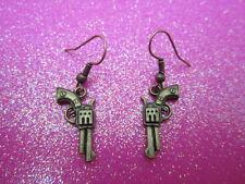 Antique Brass Gun Earrings