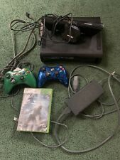 New listing Xbox 360 Console 120Gb Hdd, Wires, Blue Metallic Controller, & More Bundle