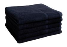 """Salon Towel 24 Pcs Black 16""""x27"""" Pure Cotton Economy Hand Towels Spa Gym"""