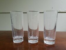 Vintage BACARDI Premium Black Rum:Etched Glasses X3! Very Nice! FREE SHIPPING!