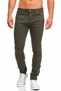 MADDU Herren Cargo Jeans Hose Used Freizeit Clubwear Skinny Jeans Khaki 211 NEU