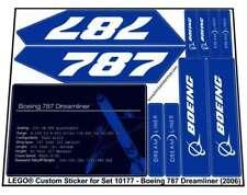 Lego Custom Pre-Cut Sticker for Sculptures set 10177 - Boeing 787 Dreamliner