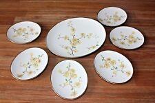 JOHANN HAVILAND, Bavaria, porcelaine, art deco, 7 assiettes Klein
