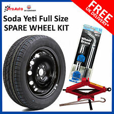 Skoda Yeti 2009-2018 FULL SIZE STEEL SPARE WHEEL &TYRE + FREE TOOL KIT