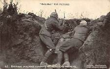 "Militaria ""Daily Mail"" War Pictures, British Machine Gunners wearing Gas Helmets"