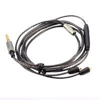 Mmcx Audio Cable Cord W/Mic Volume Control For Shure Se215/Se425/Se535 Black.US