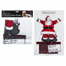 4 Giant Santa Sacks Stocking Christmas Extra Large Xmas Gift Present Bag