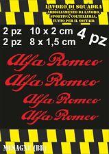 KIT 4 ADESIVI ALFA ROMEO sticker PINZE FRENO MITO 147 159 GIULIA STELVIO ROSSO