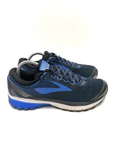 Brooks Ghost 10 Running Athletic Shoes Blue Black 1102571D056 Men's Size 10