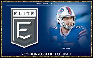 2021 Donruss Elite Football -You Pick! Base Green Pink Parallels #1-200 + insert